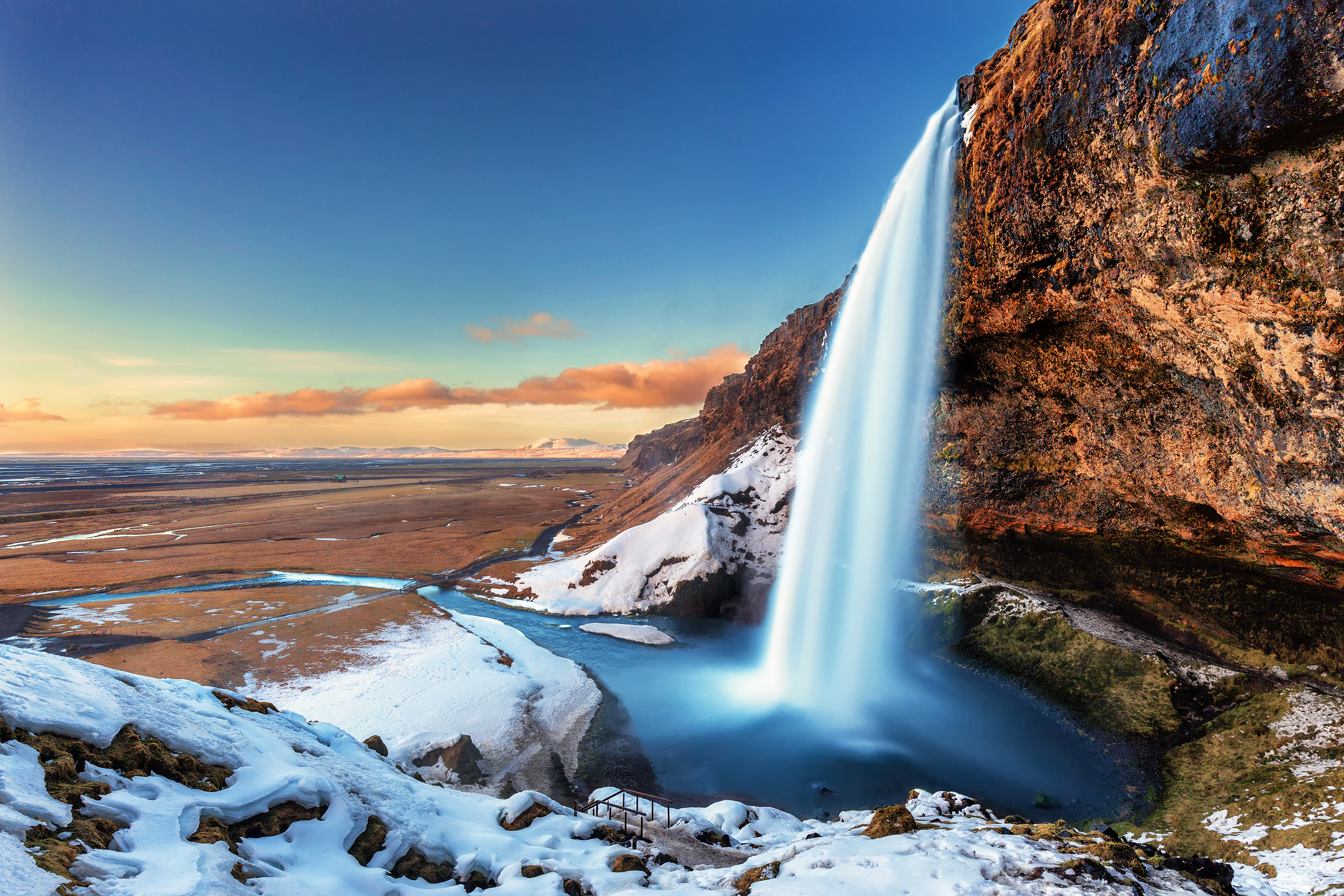 Seljalandsfoss in winter, Iceland